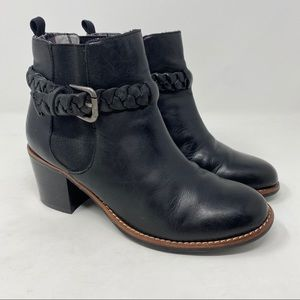 Sperry Liberty Leather Ankle Boot Black 7